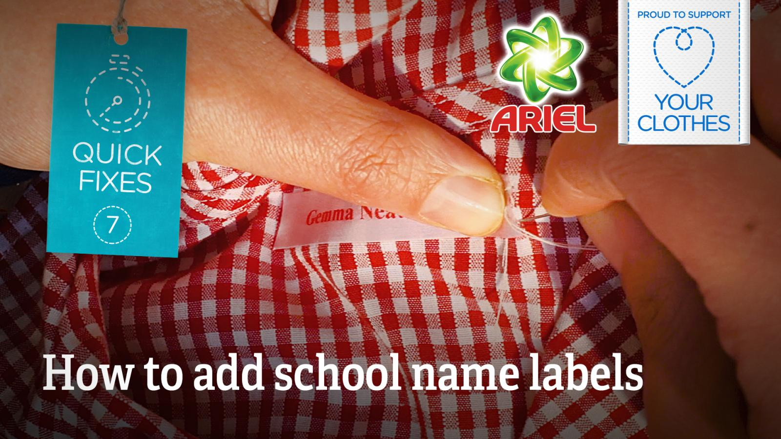 Text: how to add school name labels