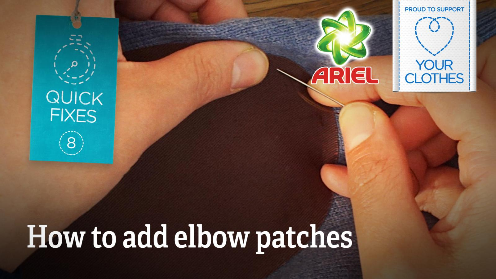 Text: how to add elbow patches