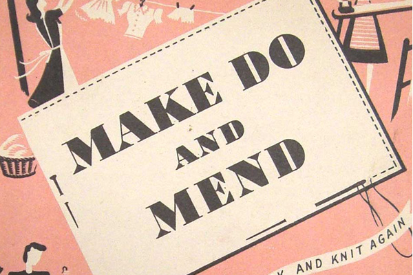 """Make do and mend"" book cover."