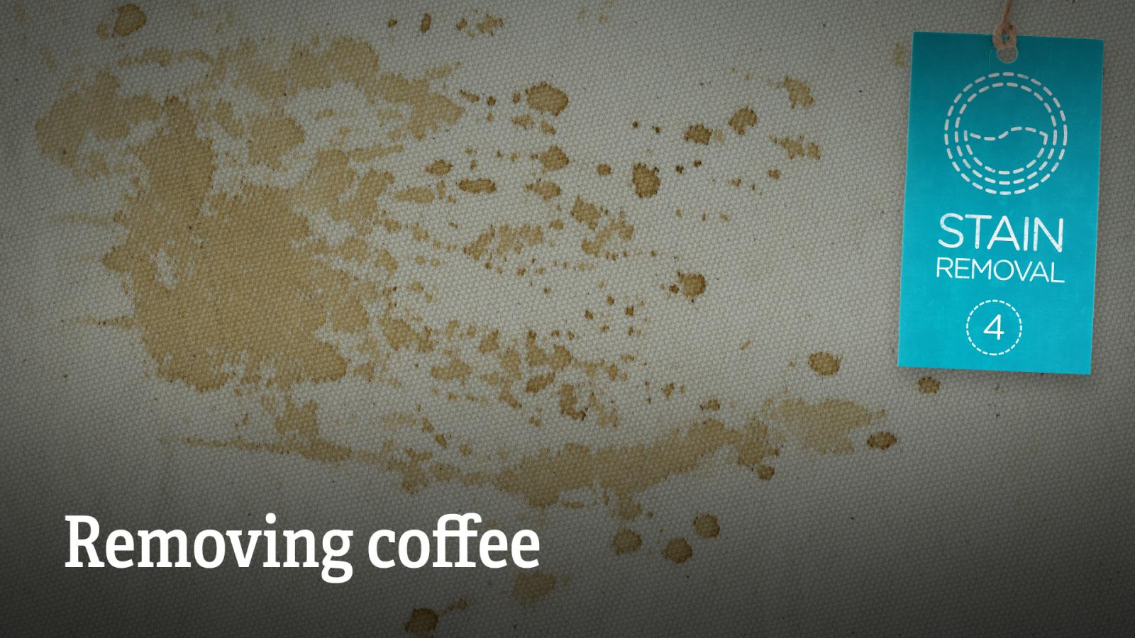 Stain removal removing coffee love your clothes for How to remove coffee stain from white shirt
