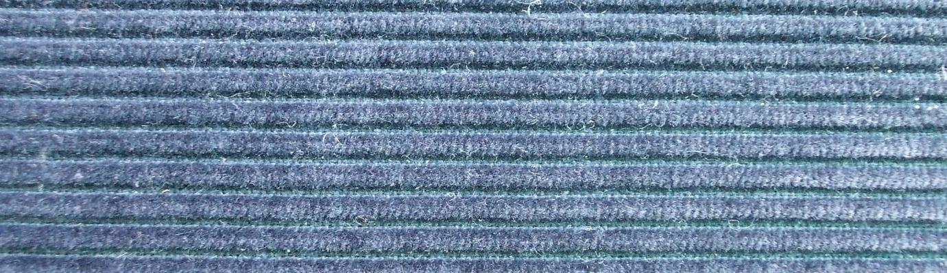 Blue corduroy fabric.