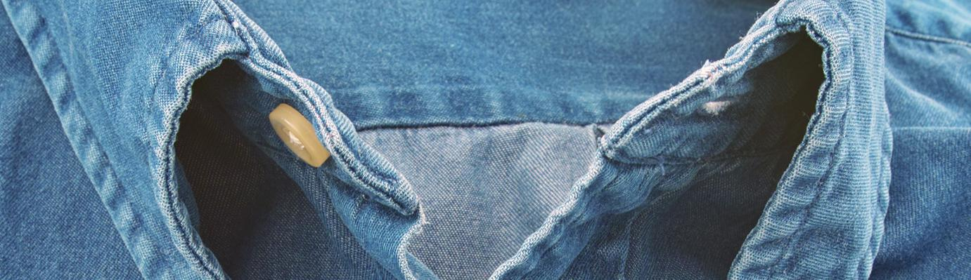 Denim shirt.