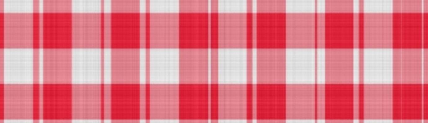 Red gingham fabric.