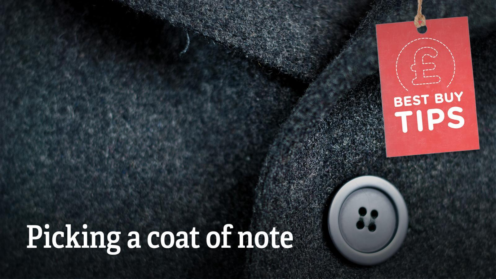 "Text: ""Picking a coat of note""."