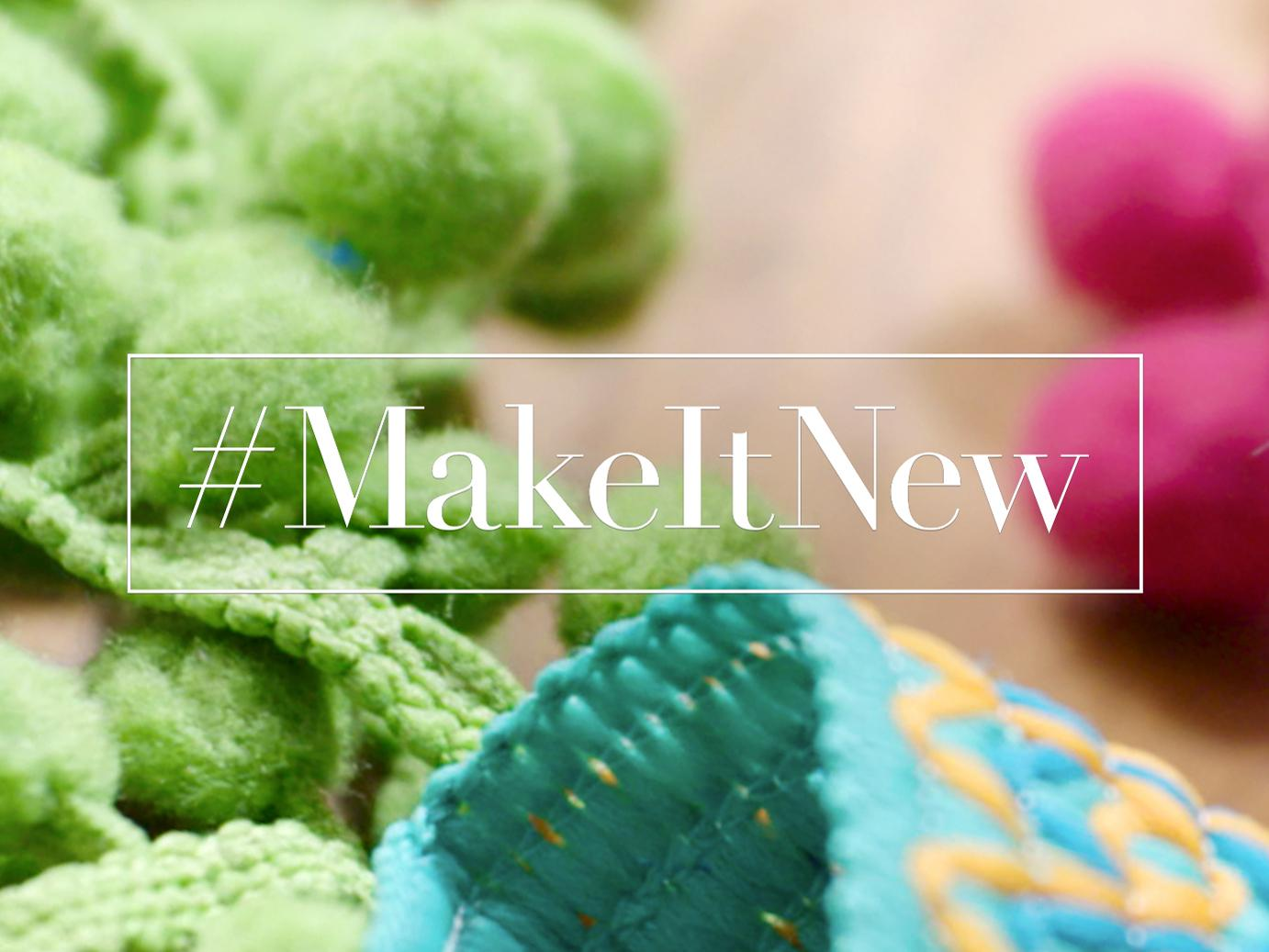 """Text: """"MakeItNew"""""""