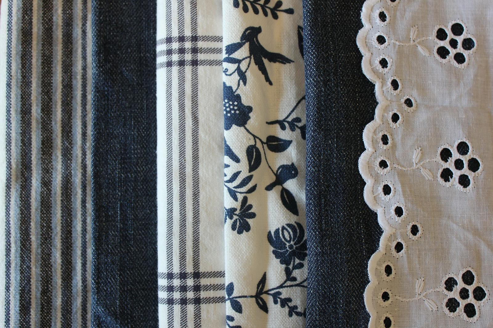 A selection of cotton fabrics.