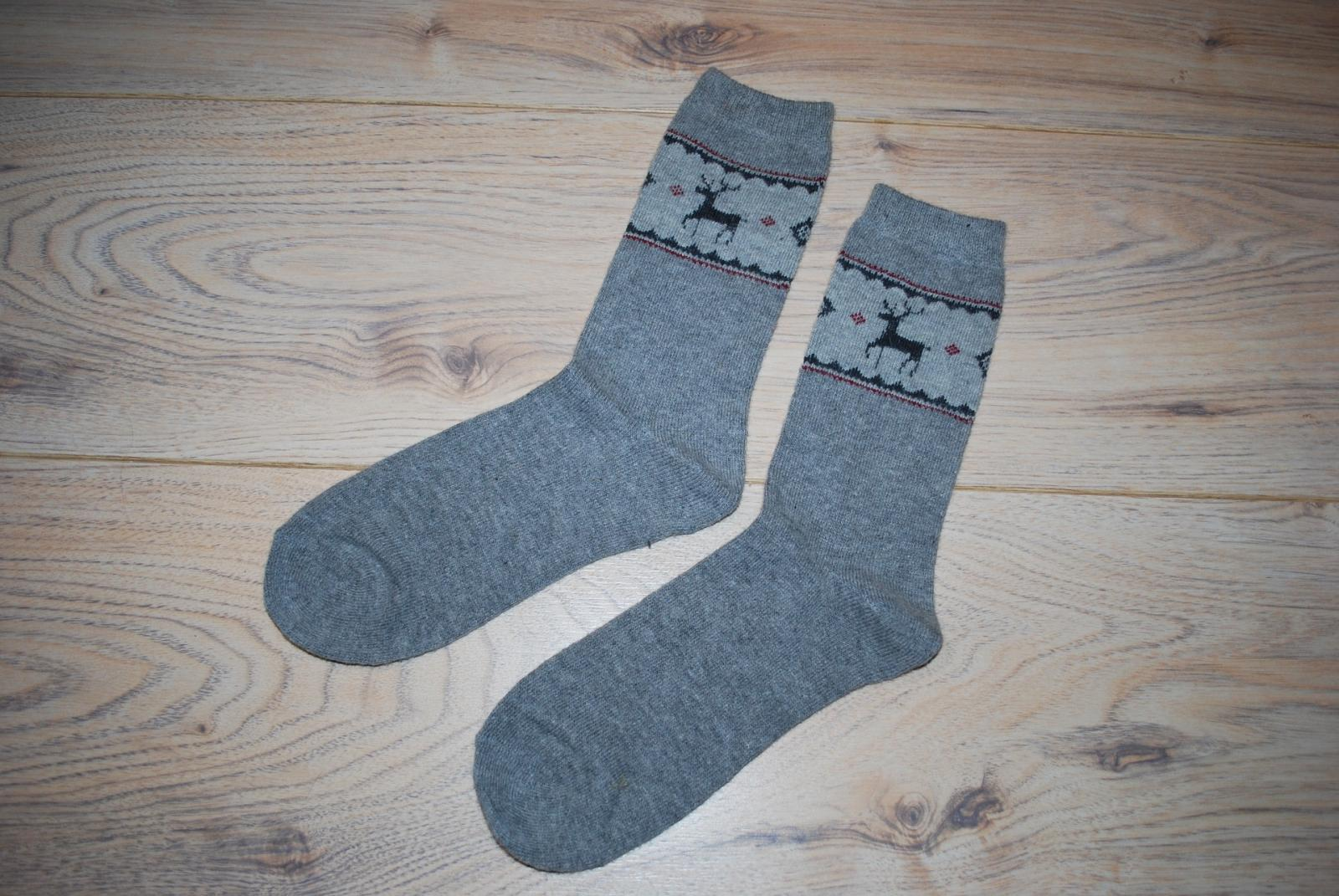 Grey Christmas socks
