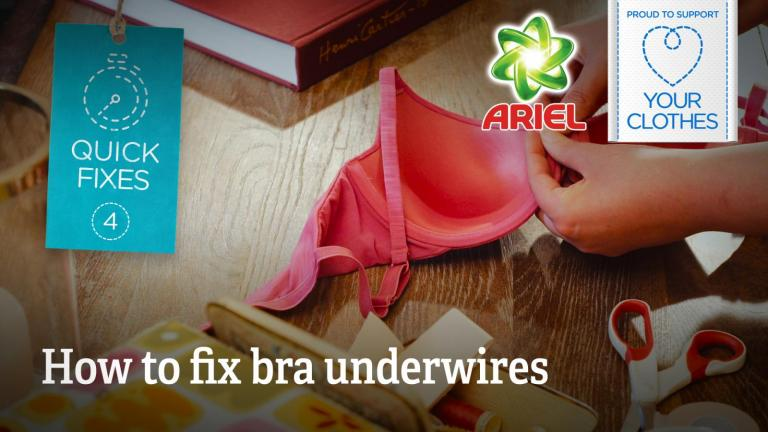Text: how to fix bra underwires