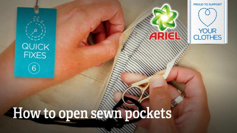 How to open sewn pockets