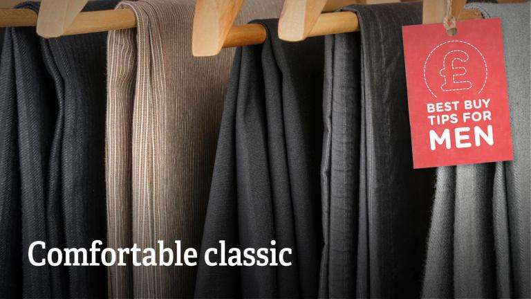 "Text: ""Comfortable classic""."