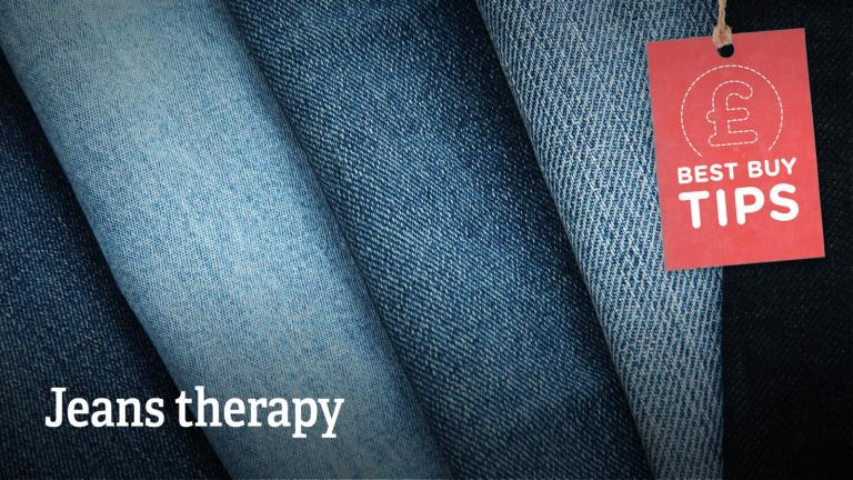 """Text: """"Jeans therapy""""."""