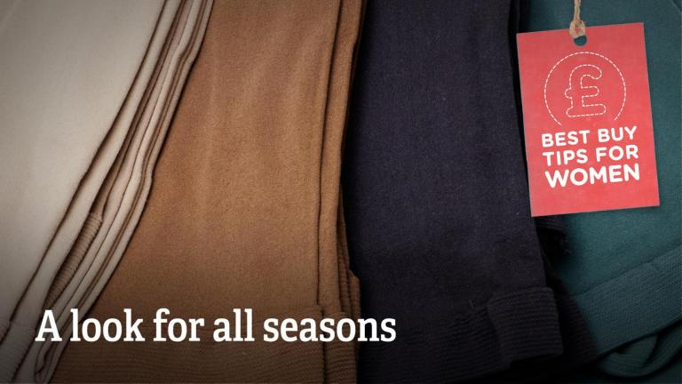 """Text: """"A look for all seasons."""""""
