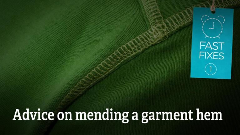 Advice on mending a garment hem