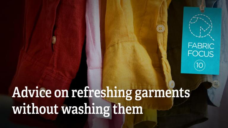 Advice on refreshing garments without washing them