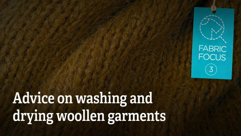 Advice on washing and drying woollen garments