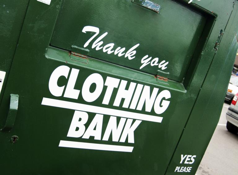 Clothes bank.