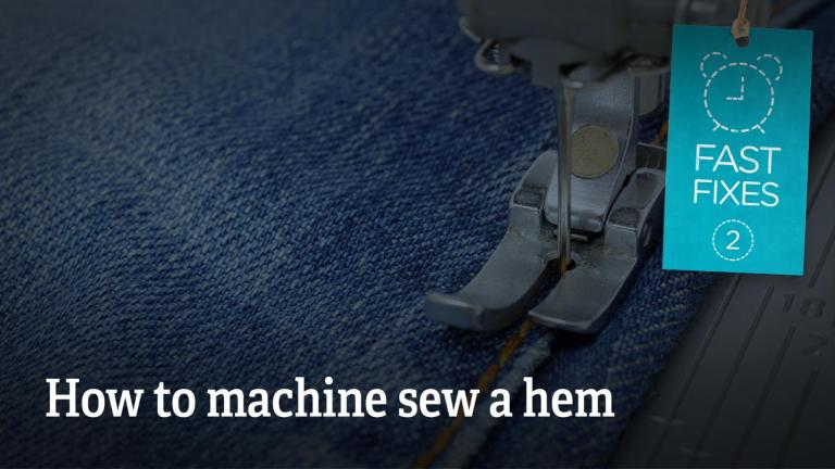 How to machine sew a hem