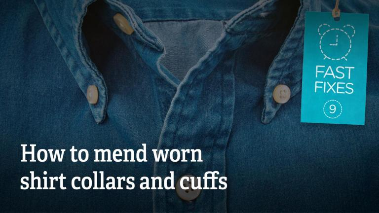 How to mend worn shirt collars and cuffs