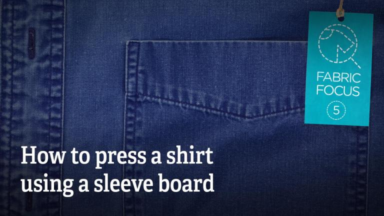 How to press a shirt using sleeve board