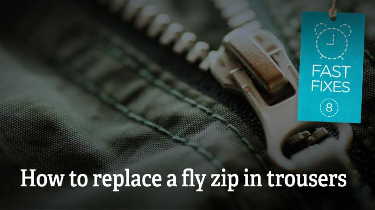 How to replace a fly zip in trousers