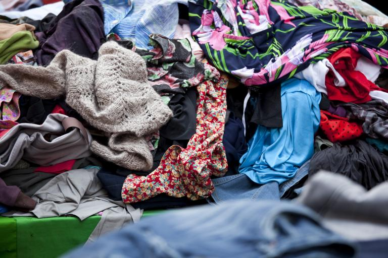 A jumbled pile of clothes.