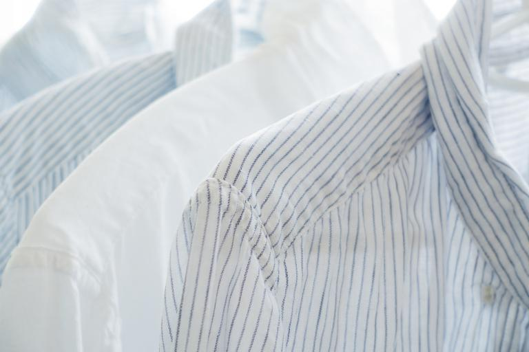 White and blue shirts