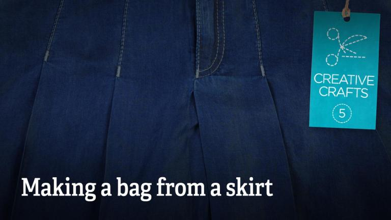 How to make a bag from a skirt