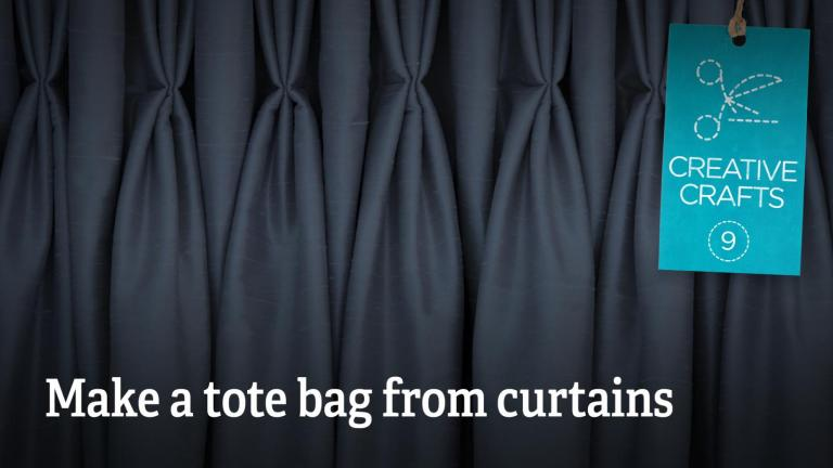 Make a tote bag from curtains