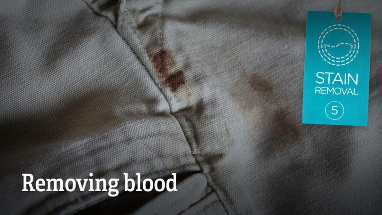 Removing blood stains from clothes
