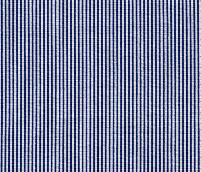 Blue stripey fabric.